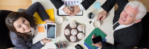 Rotura del negocio en la oficina Imagenes de archivo