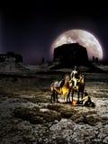 Rotura en el desierto en la noche ilustración del vector