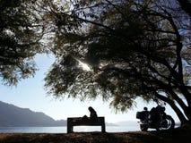 Rotura en el lago Fotografía de archivo