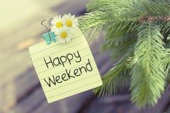 Rotura feliz del fin de semana Foto de archivo libre de regalías