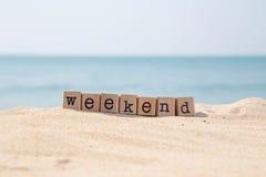 Roturas del fin de semana y días de fiesta de la playa Imágenes de archivo libres de regalías