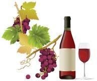 Rotwein. stock abbildung