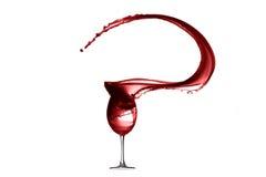 Rotwein-abstraktes Spritzen lokalisiert auf Weiß Stockbilder