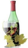 Rotwein-Flasche Stockbild