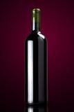 Rotwein-Flasche Stockfotografie