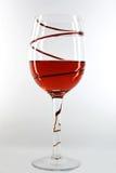 Rotwein im Glas Stockfotos