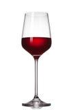 Rotwein im Glas getrennt Lizenzfreie Stockbilder