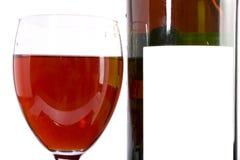 Rotwein und Flasche Stockbild