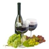 Rotwein und Traube Lizenzfreie Stockfotos