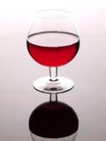 Rotwein und Weinglas Stockbilder