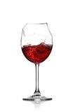 Rotwein in unterbrochenem Glas Lizenzfreies Stockbild