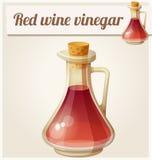 Rotweinessig Ausführliche Vektor-Ikone Stockfotografie