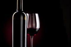 Rotweinflasche Lizenzfreie Stockfotos