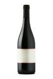 Rotweinflasche mit leerer Etikette lizenzfreie stockfotografie