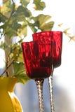 Rotweingläser lizenzfreies stockbild