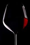 Rotweinglas Stockfoto