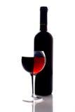Rotweinglas Lizenzfreie Stockbilder