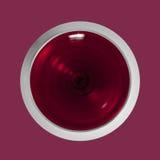 Rotweinglas der Draufsicht Stockbild