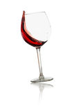 Rotweinglas des Strudels Stockfoto