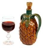 Rotweinglas und exotisches Lizenzfreie Stockfotografie