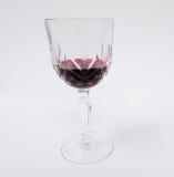 Rotweinglas verfassen Lizenzfreies Stockbild