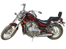 Rotweinmotorrad. lizenzfreie stockfotografie