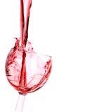 Rotweinspritzen lizenzfreie stockbilder