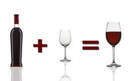 Rotweinvorlagenmathematik Lizenzfreies Stockbild