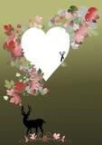 Rotwild für Valentinsgrußkonzept Stockbild