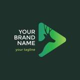 Rotwild-Kopf Logo Design Template Lizenzfreie Stockfotos