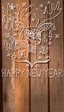 Rotwild mit großen Hörnern und Dekorationen für schönes Feiertag desi Lizenzfreies Stockfoto