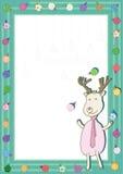 Rotwild-Spiel-Weihnachtskugeln Frame_eps Stockfoto