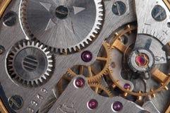 Rouage d'horloge de montre-bracelet Photographie stock libre de droits
