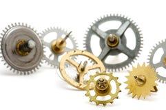 Rouage d'horloge en métal Photos stock