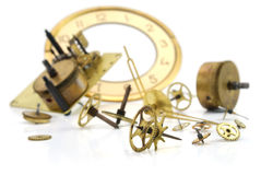 rouage d'horloge vieux Image stock