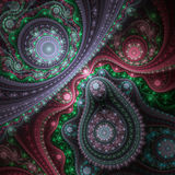 Rouages brillants colorés, illustration numérique Photographie stock