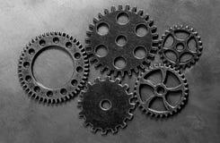 Rouages de roues de vitesses en métal Photographie stock libre de droits