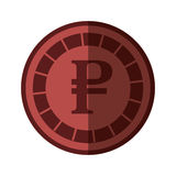 Rouble coin isolated icon Stock Image