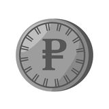 Rouble coin isolated icon Royalty Free Stock Photos