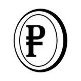 Rouble coin isolated icon Royalty Free Stock Photo