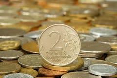 Rouble de pièce de monnaie de l'argent 006 Images libres de droits