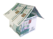 Rouble house. Ruble, rouble house Royalty Free Stock Photos