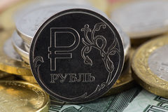 Rouble icon Stock Photo