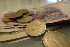 Rouble russe Photos stock
