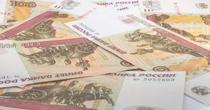 Rouble russe Photographie stock libre de droits