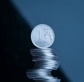 The rouble. Russian main coin. Russian national currency Stock Photo