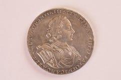Rouble Russie de pièce d'argent Peter 1722 A Autocrate d'empereur de la toute la Russie Photos stock