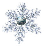 Rouble snowflake Stock Photos
