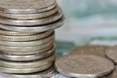 Roubles de pièces de monnaie Image libre de droits