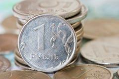 Roubles de pièces de monnaie Photos stock